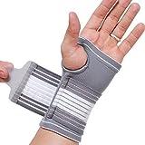Protège-poignet et soutien paume (1 Unité) de marque Neotech Care - Compression AJUSTABLE - Support main droite ou gauche - Ultra léger, élastique et respirant (Taille S)
