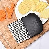 yqs Rebanadora Herramientas de Cocina de Bordes ondulados de Patata Accesorios de Cocina Accesorios de Cocina de Acero Inoxidable Gadget de Cocina de Vegetales (Color : Multicolor)