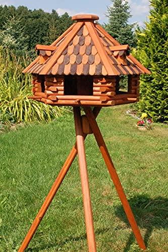 Deko-Shop-Hannusch XXL Luxus Vogelhaus absoluter Blickfang, Vogelfutterhaus aus Holz, V13b XXL mit Ständer