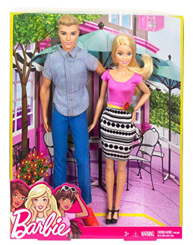 Barbie - Muñeco Ken y muñeca Barbie de paseo (Mattel DLH76)