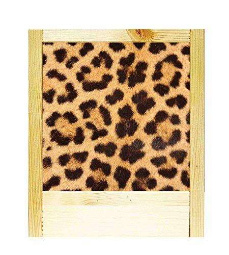 Lámpara de madera natural leopardo