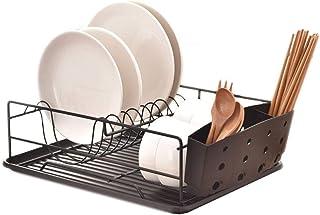 comprar comparacion Juego de escurridor para platos, soporte para utensilios de secado de platos, estante resistente y resistente al óxido par...
