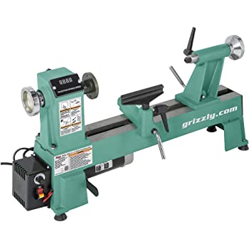 "Grizzly Industrial T25920 - 12"" x 18"" Variable-Speed Benchtop Wood Lathe"