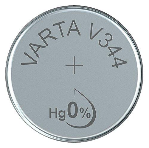 VARTA 14501344 - Knopfzellen-Batterie V344 mit 1,5 Volt, Kapazität 100 mAh, chemisches System Silberoxid, für elektronische Alltagsgeräte zur Sicherstellung einer optimalen Energieversorgung