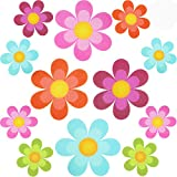 Non Slip Bathtub Stickers Adhesive Decals with Bright Colors, Daisy Bath Treads...