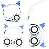 DURAGADGET Cat Headphones with Light Up Ears (in White) for JXD S7800B