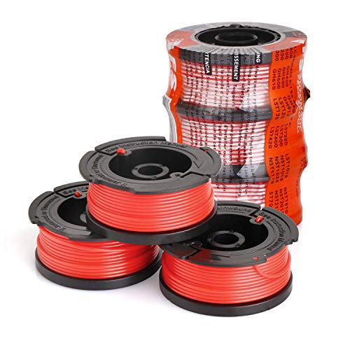 GLine String Trimmer Line Replacement Auto-Feed Spool for Black and Decker AF-100 065'' 30ft 3 Pack (Line Color Random)