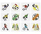 KINPARTY ® - 84 x Tatuajes Temporales FUTBOL - Diseños Surtidos para Niñas/Niños. Tatuajes para regalos de cumpleaños, fiestas, celebraciones, relleno de piñatas, regalos sorpresa