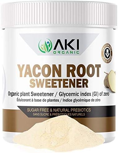 Aki Organic Pure Yacon Powder Root Sugar Substitute Prebiotic Weight Loss Gluten Free Sweetener product image