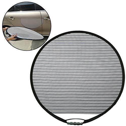 Fansport Sonnenschutztuch Sonnenblende fürs Auto Car Line Board Faltbare Reflektor Board Licht Reflektor Dent Repair Tool- Schwarz