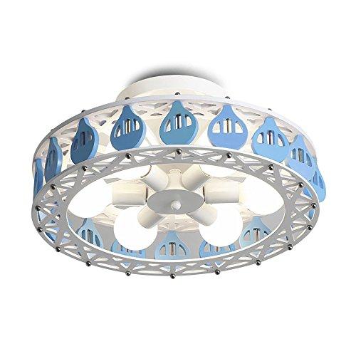 TOYM UK Iron LED Ferris Wheel Personalidad Creativa lámpara de Techo Dormitorio de la habitación de los niños Chica Dormitorio lámpara de Techo (Color : Azul)