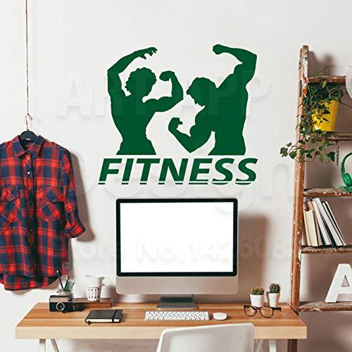 ganlanshu Hochwertige Jugendstil Design Fitness Gym Dekoration Vinyl Wandaufkleber bewegliche Haus...