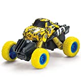 MANIINI Pull Back Cars Toys, Pull Back Vehicles Monster Trucks for Kids Off-Road Die-cast, Tiny Inertia Car Toy for Boys Girls Toddler Gifts Camouflage Series - Yellow