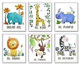 Baby Nursery Decor - Jungle Safari Animal Unframed Wall Art...