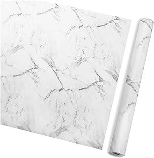 Wigood Marble Waterproof Contact Paper,0.45 * 10m Self-adhesive Wallpaper Waterproof Oilproof PVC Vinyl Sticker for Living...