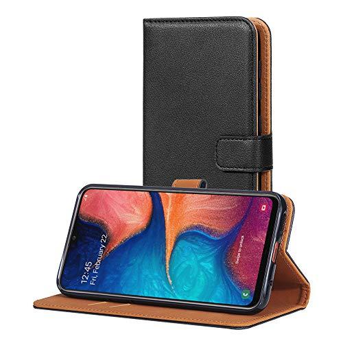 AICEK Funda Compatible Samsung Galaxy A20 / Samsung Galaxy A30, Cuero PU Funda para Samsung Galaxy A20 Libro Carcasa Case Cierre Magnético Ranuras para Tarjetas Negro (6,4 Pulgadas)
