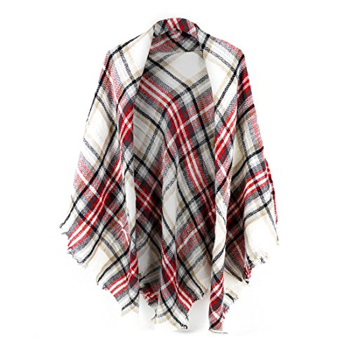 Women's Plaid Blanket Scarf Wrap...