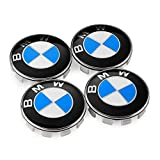 x5 rims - BMW Wheel Center Caps Set of 4 Emblem, 68mm BMW Rim Center Hub Caps for All Models with BMW Wheels Logo Blue & White Color