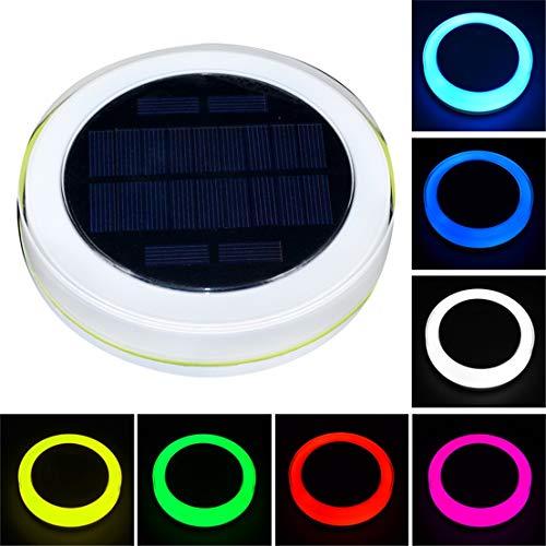 GJ688 RGB LED Unterwasserlicht mit Fernbedienung Brunnen-Licht-Solarlicht für Outdoor-Pool-Party-Dekoration-Beleuchtung