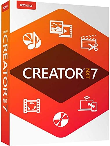 Roxio Creator NXT 7 CD DVD Burning Creativity Suite PC Disc Old Version product image