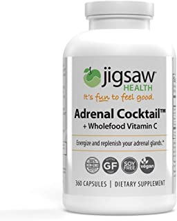 Jigsaw Health - Adrenal Cocktail Capsules with Whole-Food Vitamin C, Potassium, and Redmon's Real Salt. Supports Adrenal Glad Function and Combats Adrenal Fatigue