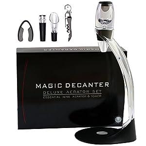 Aireador de vino Decantador de vino - ASOG Magic Decanter Jarra de vino con torre, juego de regalo ideal