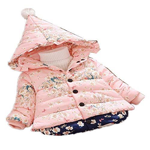 CZYTN Kinder Baby Jungen Mädchen Kleidung Winter Warm Mantel Jacke Kid Reißverschluss dick Hoodie Oberbekleidung Winter Overall Gr. 80 cm, Multi