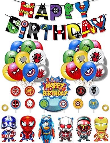 Decoracion Cumpleaños Superheroes...