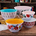 10-Pieces The Pioneer Woman Traveling Vines Melamine Mixing Bowl Set
