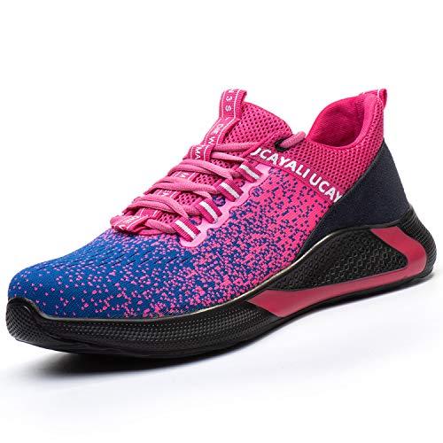 Ucayali Zapatos de Seguridad con Punta de Acero para Mujer Zapatillas de Trabajo Puntera...