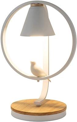 SHAOYH Lámpara de mesa pequeña nórdica E27 Dormitorio creativo ...