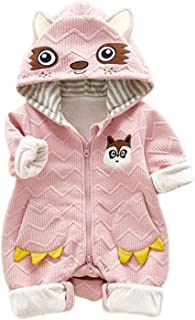 Fairy-Baby Unisex Toddlers Long Sleeve Autumn Romper Kids Casual Playwear with Cute Animal Style Design One Piece Bodysuit (Color : Pink, Size : 80)