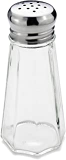 New Star Foodservice 22315 Glass Salt and Pepper Shaker with Stainless Steel Mushroom Top, 3-Ounce, Set of 12