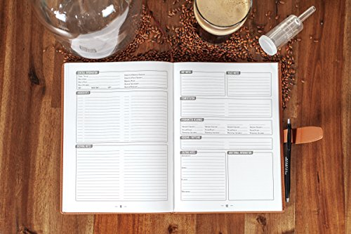 Product Image 4: Home brew Journal for Craft Beer Homebrewers   Homebrew Logbook w/ space for 70+ recipes   Beer Glassware Reference, Beer Color Chart, Hops and Yeast Strain Chart  
