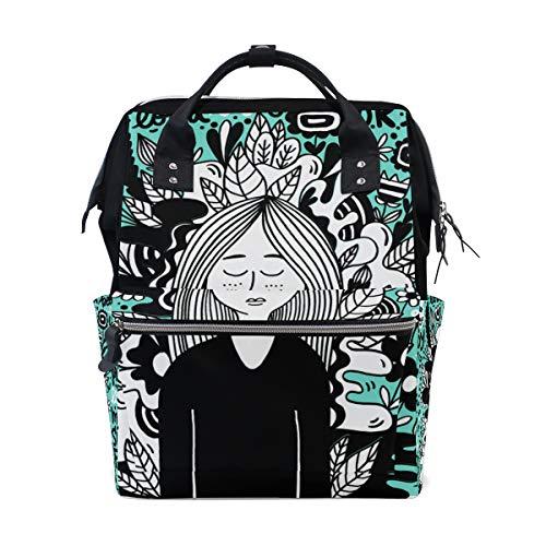 Funny Girl Sac à dos à langer pour maman Grand sac à dos unisexe Sac à langer Sac à dos de voyage Sac à dos d'école pour ordinateur portable