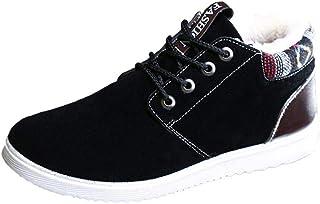 Tasty Life Bottines pour Hommes, Bottes Martin Chaudes, Chaussures épaisses Doublées De Peluche, Bottes d'hiver en Coton,C...