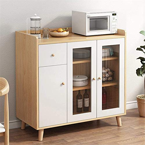 DXCSAA Sideboards Home Tea Cabinet Modern Minimalist Cabinets Home Kitchen Living Room Cabinet Tea Cabinet Corner Cabinet for Living Room (Color : Beige, Size : 93.5x40x63cm)