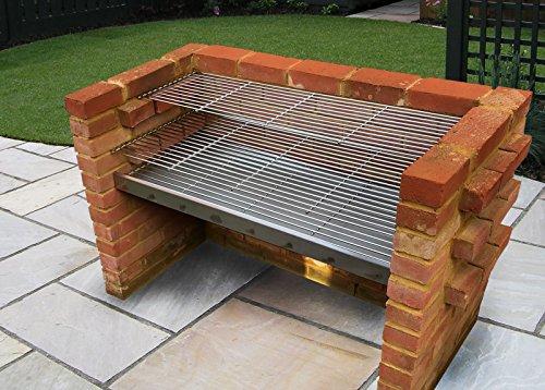 SunshineBBQs Extra Large Stainless Steel DIY Brick BBQ Kit 112cm...