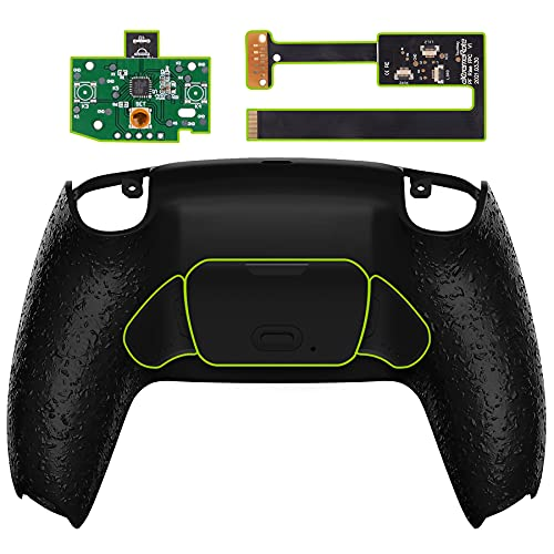 eXtremeRate Textured Black Programable Rise Remap Kit for PS5 Controller BDM-010, Upgrade Board & Redesigned Back Shell & Back Buttons Attachment for PS5 Controller - Controller NOT Included