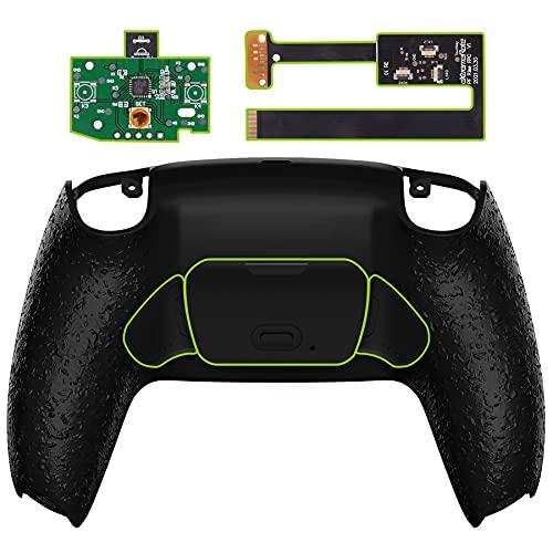 eXtremeRate Programmierbares Rise Remap Kit für ps5 Controller BDM-010,Rückseite Hülle/Case Knöpfe/Tasten für Playstation 5 Controller(Texturiertes Schwarz)-Controller Nicht im Lieferumfang enthalten