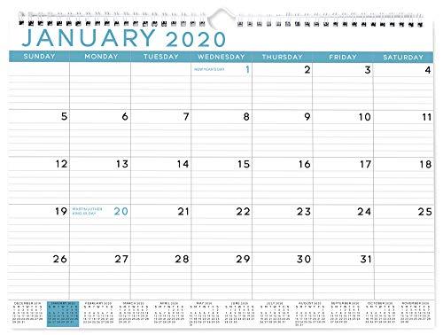 Sweetzer & Orange 2020 Calendar. 18 Month Office Wall Calendar 2020-June 2021 - Blue Business Design...