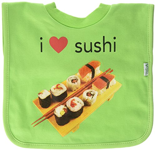Green Sprouts - Pull-Over Bib I Love Sushi 9-18 Months Green