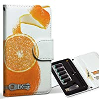 スマコレ ploom TECH プルームテック 専用 レザーケース 手帳型 タバコ ケース カバー 合皮 ケース カバー 収納 プルームケース デザイン 革 ユニーク オレンジ チャック 005925