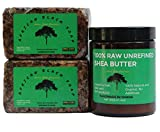 African Black Soap and Shea Butter | Organic Skin Care Pack | Handmade in Ghana
