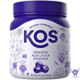 KOS Organic Açaí Juice Powder - Natural Antioxidant Superfood Açaí Juice Powder - Polyphenol Abundant, Anti-Aging, USDA Organic, Non-GMO Plant Based Ingredient, 360g, 120 Serving