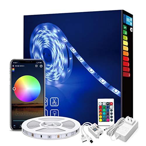 WRQING Tiras LED WiFi 10M/20M, Tira Luces LED RGB Inteligente con App Controlar y Control Remoto, Funciona con Alexa y Google Asistente, Modo Música para Habitación (Color : 10M)