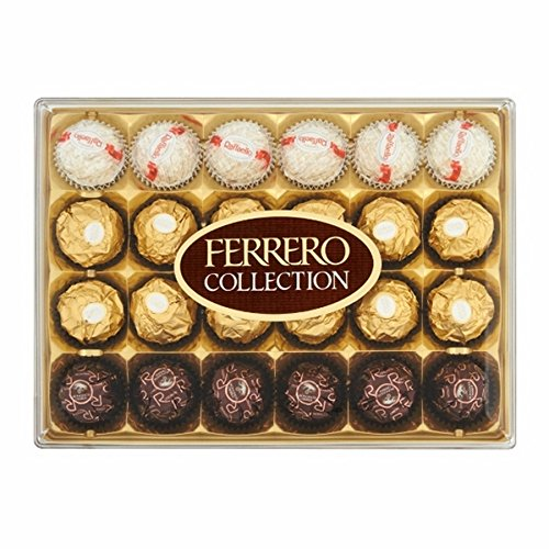 24Ferrero Rocher Collection Cioccolato Tartufi–Raffaello, rondnoir, Roccia. 269G di piacere