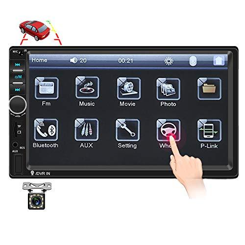 "Car Radio Double Din Car Stereo 7"" LCD Touch Screen Car Radio Bluetooth Support Mirror Link/Rear View Camera/DVR/USB/FM/SD/MMC MP3 Indash Radio"