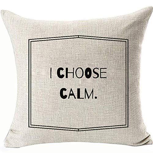 DecFure Doppelseitiger Kissenbezug, Chemie-Labor, Kissenbezug für Sofa, Couch Stuhl, 2 Seiten, 45,7 x 45,7 cm, Leinen, Weiß, Baumwolle, I Choose Clam, 45 x 45 cm