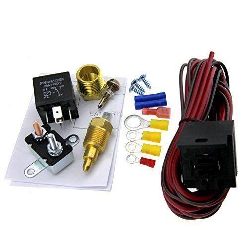 Kits del sensor del interruptor del termostato del ventilador del coche 12V 200-185 grados 5 pines de refrigeración del motor de relé